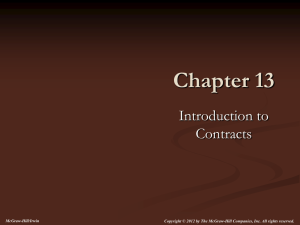 Classification of Contracts - McGraw Hill Higher Education