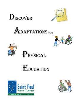 Adaptations in Physical Education Document