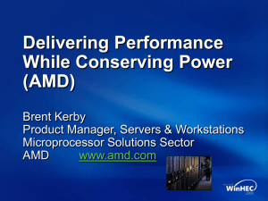 Delivering Performance While Conserving Power (AMD)