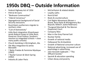 1950s DBQ * Outside Information