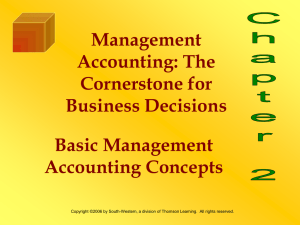 The Cornerstone for Business Decisions