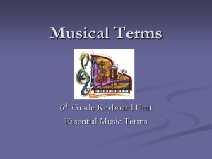 Musical Terms - Mrs. Serres Music Room