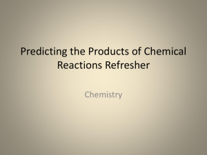 Steps to Predicting the Products of Chemical