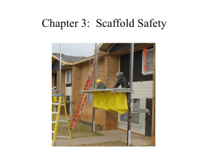 Chapter 3: Scaffold Safety Instructor's Module
