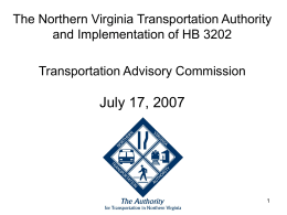 NVTA Working Group Recommendations