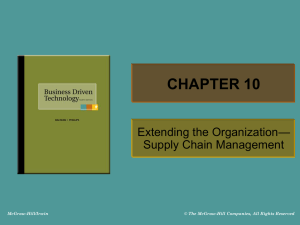 basics of supply chain - McGraw Hill Higher Education