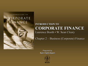 Chapter 21 - Business (Corporate) Finance