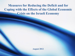 Measures for Reducing the Deficit and for Coping with the Effects of