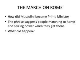 Photos the March on Rome File