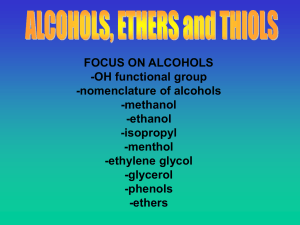 File chapter 5 alcohols, ethers and thiols