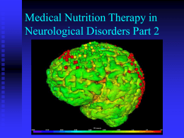 Medical Nutrition Therapy in Neurological