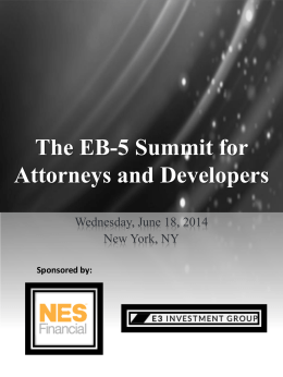 The EB-5 Summit for Attorneys and Developers