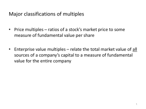 relative valuation part II