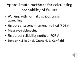 First order reliability method (FORM)
