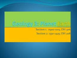 Geology 3: Planet Earth