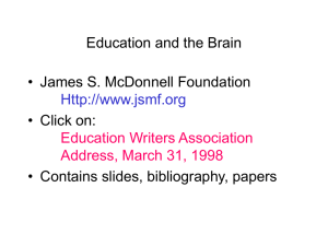 Education and the Brain - James S. McDonnell Foundation