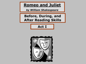 Romeo and Juliet by William Shakespeare Before, During, and After