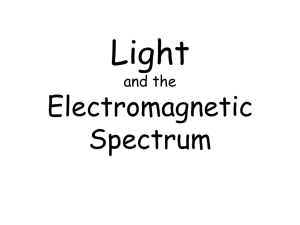PowerPoint: Electromagnetic Spectrum