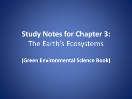 Study Notes for Chapter 3 Section 1: Land Biomes