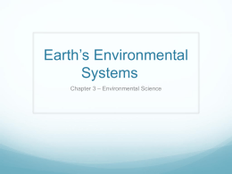 Earth*s Environmental Systems