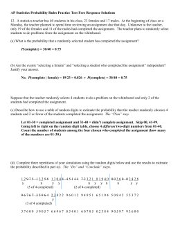 Probability Test Free Response Solutions