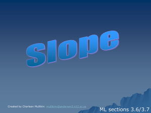 PowerPoint on Slopes and Writing Equations