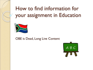 How to find information for your assignment in Education