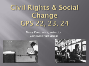 The Civil Rights Movement - Ms. Nancy K. Ware's US History Classes