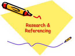 Presentation-referencing for students