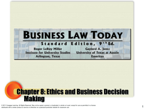 Outcome-Based Ethics