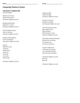 on turning ten poem