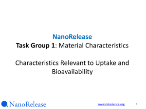 (April 16 2013 Webinar - NanoRelease Food Additive) final