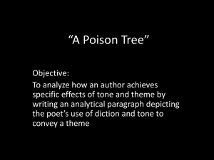 A Poison Tree - TJ