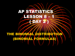9.2 Sample Proportions Practice AP Statistics Name: Answer each of