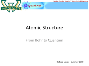 Atomic Structure - High Energy Physics at Wayne State