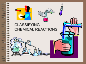 five basic ways to classify chemical reactions - School-One
