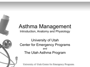Asthma Management - University of Utah