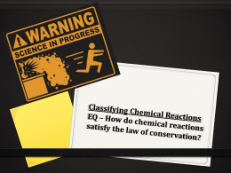 Classifying Reactions ppt
