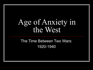Age of Anxiety in the West