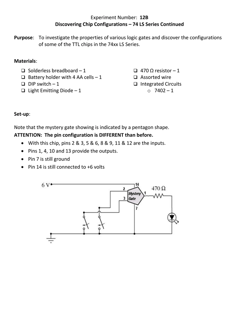 6 Pin Dip Switch Diagram Electrical Wiring Diagrams Rocker Experiment 12b Chip Configurations Toggle