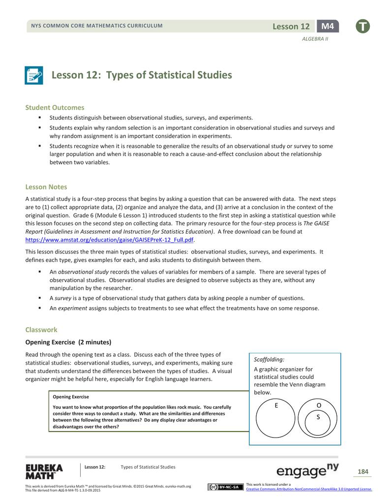 Algebra II Module 4, Topic C, Lesson 12: Teacher Version