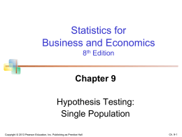 ch.9.4. Tests of the Population Proportion