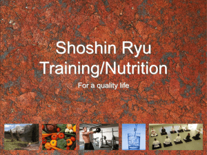Training Nutrition for life