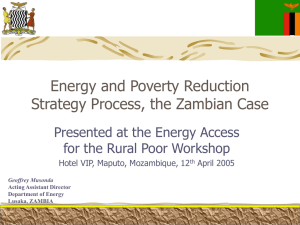 Presentation: Energy and the poverty reduction strategy process
