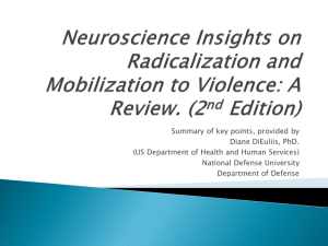 Neuroscience Insights on Radicalization and