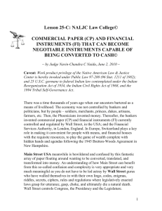 COMMERCIAL PAPER - NALJC: Gain Financial Independence