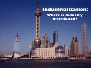 Lecture 1 Industrialization regions