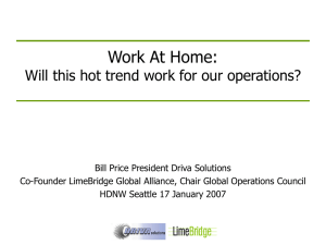 Work At Home – Will this hot trend work for my operations?