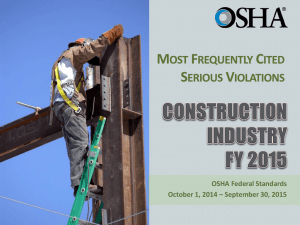 Most Frequently Cited Serious Violations in Construction