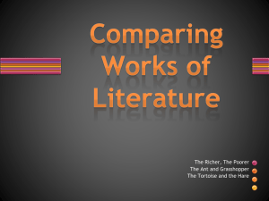 Comparing Works of Literature Creating the Body